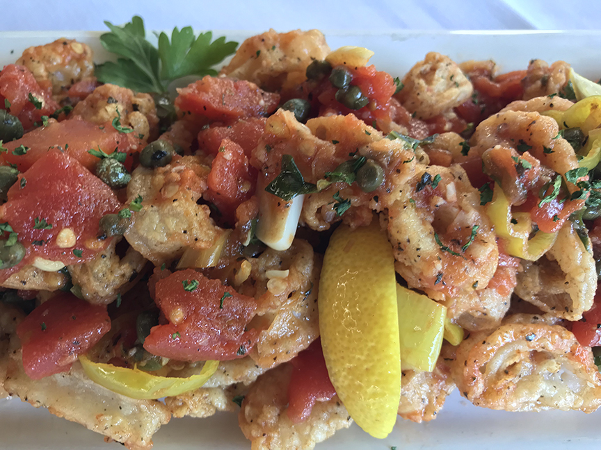 Calamari Siciliano for Austin Restaurant Weeks!