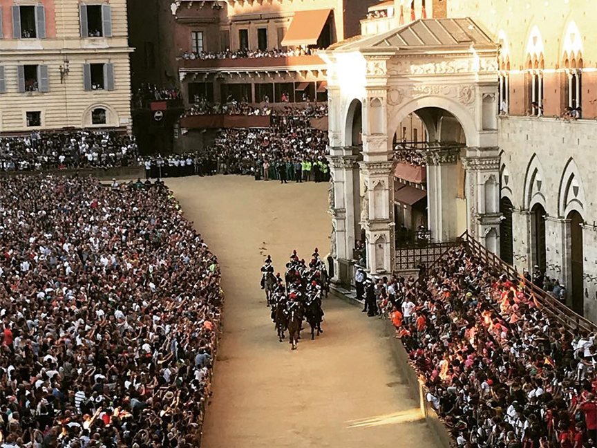 Gearing up for the Palio di Siena, the city's famous medieval horse race
